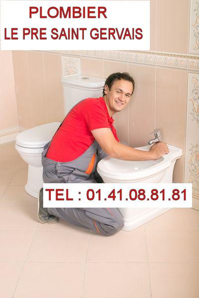 Plombier toilettes Le Pré Saint Gervais